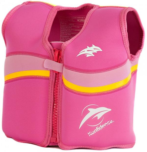 Плавальний жилет Konfidence Original Jacket 4-5 років Konfidence Original Jacket 4-5 років Fuchsia/Pink