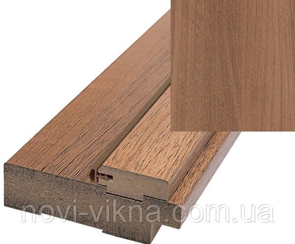 Дверная коробка дерево ПВХ Делюкс 100х32 с уплотнителем, золотой дуб.