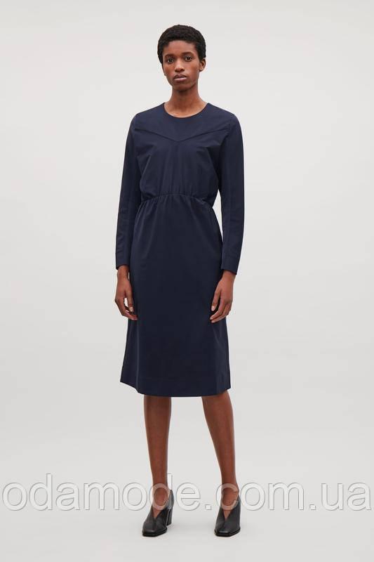 Платье женское синее с длинным рукавом COS