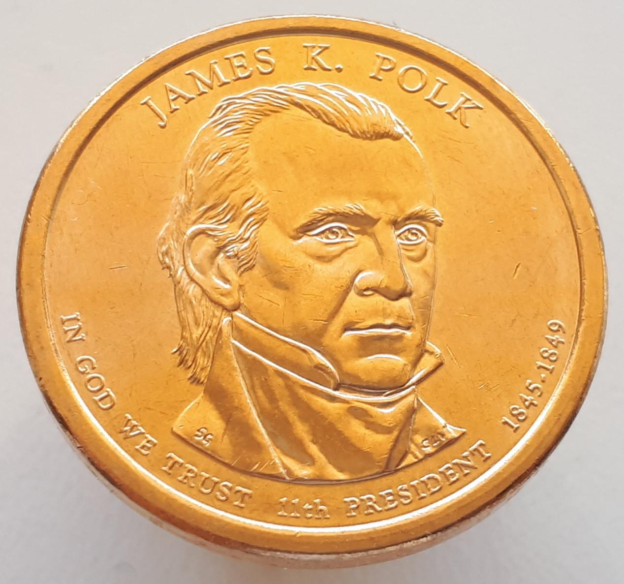 США 1 долар 2009 - Джеймс Нокс Полк 11 Президент