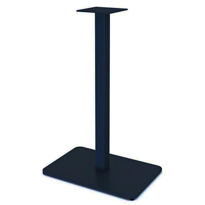 """Опора из металла """"UNO"""" ножка для стола с широкой скругленной пластиной 6мм"""