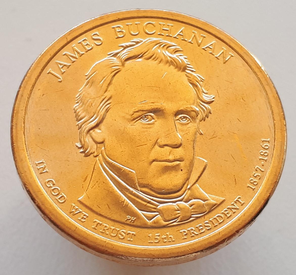 США 1 долар 2010 - Джеймс Б'юкенен 15 Президент