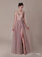 Топ! Красивое платье с разрезом на выпускной вечер, модель KAVI 055