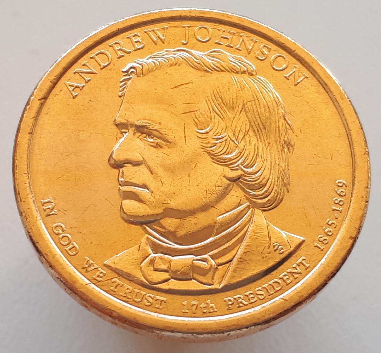 США 1 доллар 2011 - Эндрю Джонсон 17 Президент