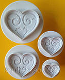 Плунжер Сердце ажурное 4 шт (кнопка), фото 3