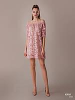 Топ! Короткое кружевное платье на Выпускной, модель KAVI 058