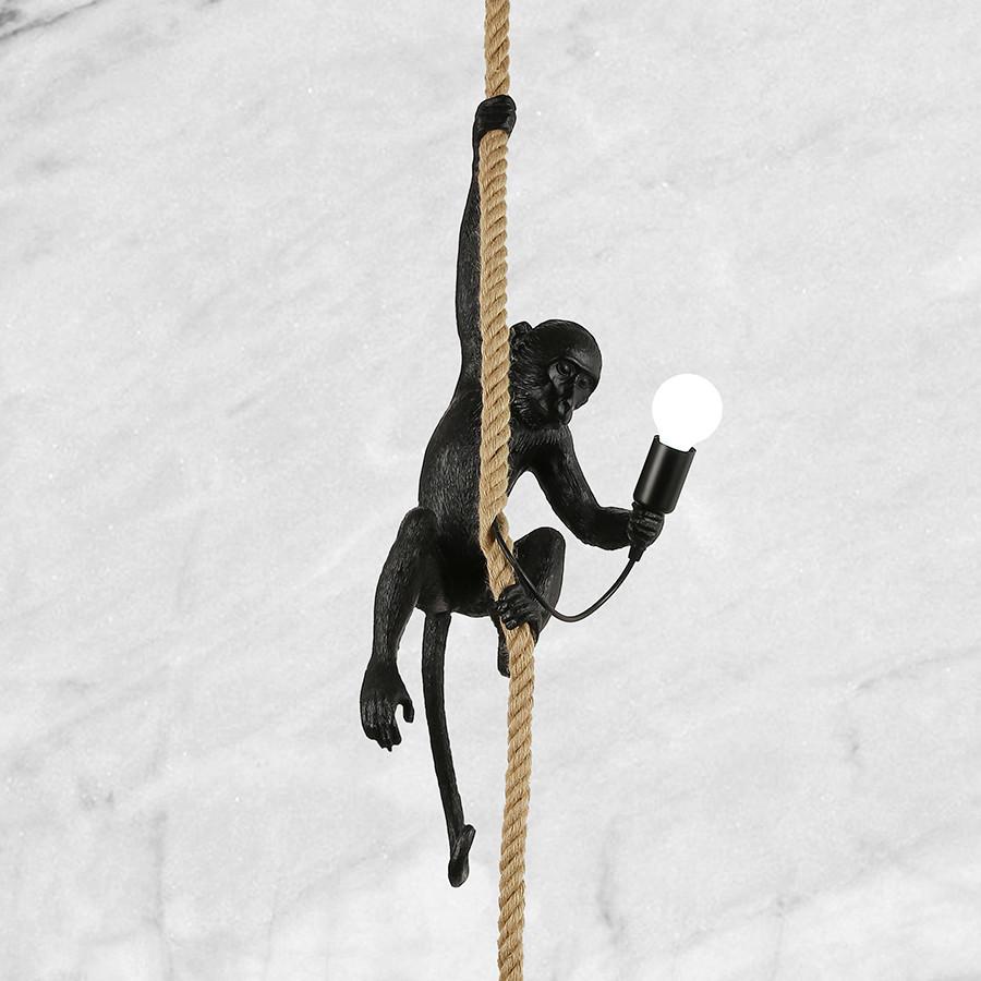 Чёрная обезьянка подвес