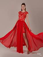 Топ! Красивое кружевное платье трансформер на выпускной, модель KAVI 062
