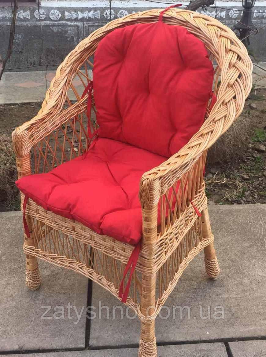 Кресло плетеное с мягкой сидушкой  | кресло плетеное для двора| кресло плетеное с подушкой