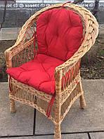 Кресло плетеное с мягкой сидушкой  | кресло плетеное для двора| кресло плетеное с подушкой, фото 1