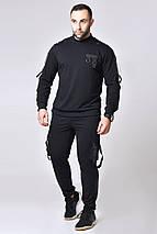 """Трикотажный мужской спортивный костюм """"Sven"""" с накладными  карманами (2 цвета), фото 3"""