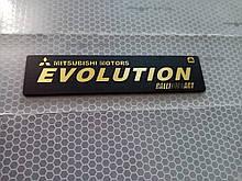Пластиковая наклейка EVOLUTION   10,5х2,5 см