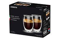 Набор чашек для латте с двойным дном 400 мл 2 шт Ardesto AR-2640-G