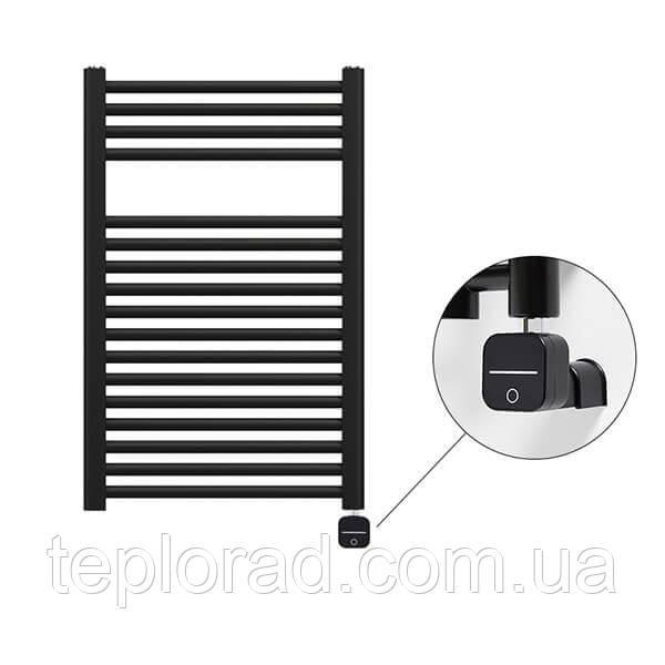 Электрический полотенцесушитель Zehnder Virando 500х786 с теном NEX с/м черный матовый