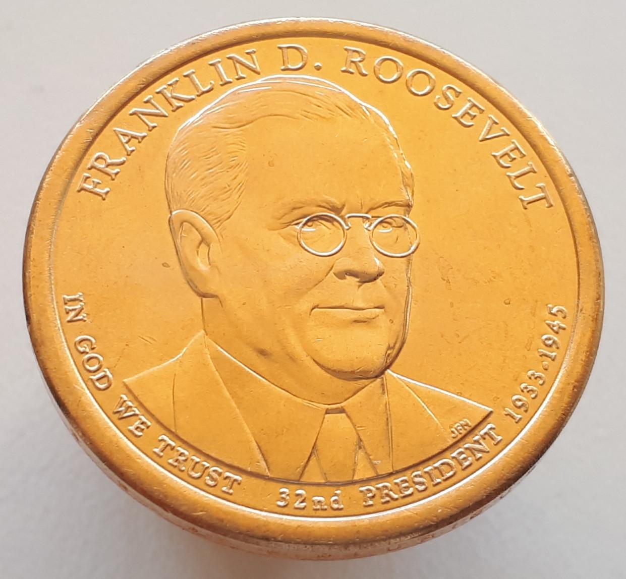 США 1 доллар 2014 - Франклин Рузвельт 32 Президент