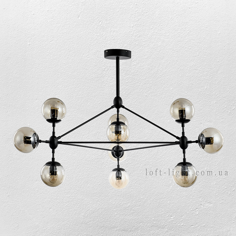Люстра молекула  52-6030-10 BK+BR