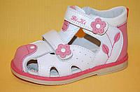 Детские Босоножки Bi&Ki Китай 4444 Для девочек Белый размеры 21_26, фото 1