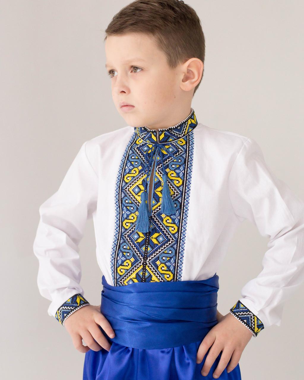 Детская рубашка с вышивкой