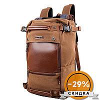 Witzman Сумка-рюкзак мужская с отделением для ноутбука Коричневый