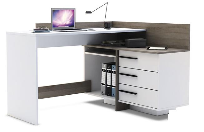 Стол компьютерный Эстет со вставками Дуб Сонома