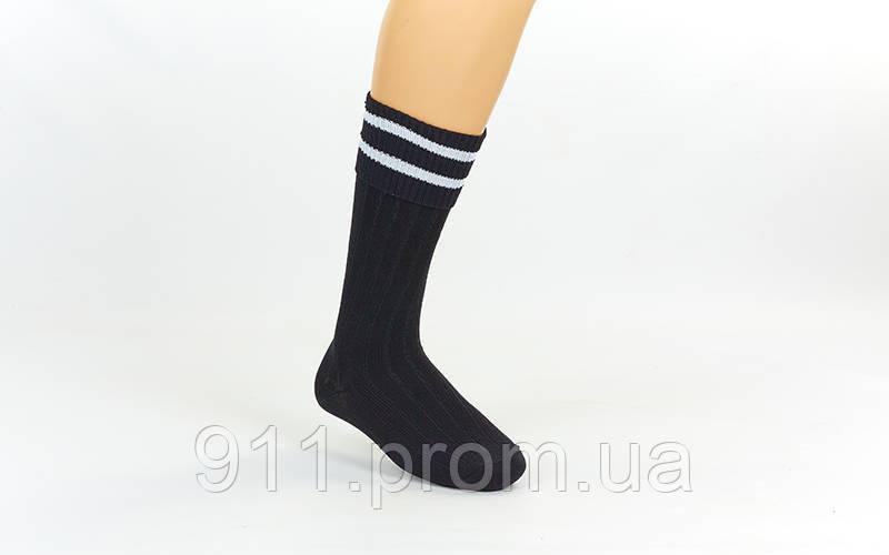 Гетры футбольные юниорские CO-5602 (нейлон, р.32-39, цвет черный)