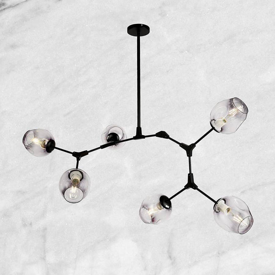 Чёрная люстра молекулы