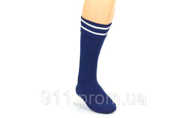 Гетры футбольные юниорские CO-5602 (нейлон, р.32-39, цвет синий)