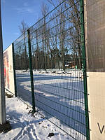 Секция ограждения длиной 2000 мм из сварной сетки 3D, ДУОС цинк/полимер, 6/5/6 мм, PROMZABOR, Украина