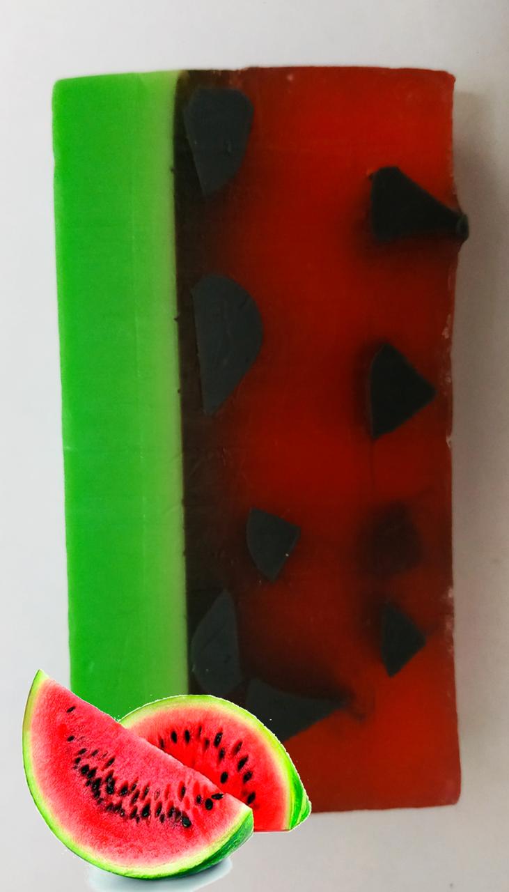 """Мыло""""Арбузный фреш"""" с зелёной  глиной"""