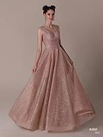 Топ! Блестящее Вечернее платье в пол на Выпускной, модель KAVI 065