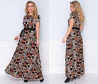 Летние платья в пол 2020.Леопардовые платья в пол 2020. Ткань: летний софт. Размеры: 48,50,52