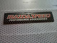 Силиконовая наклейка MAZDA SPEED   10х2,5 см