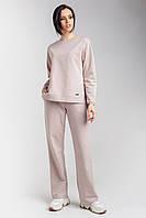 Минималистичный женский комплект, состоящий из джемпера и брюк, фото 1