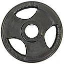 Блины (диски) обрезиненные с тройным хватом и металлической втулкой d-52мм TA-8122- 7,5 7,5кг (черный), фото 3