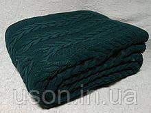 Покрывало вязаное  170x240 BETIRES bremen dark green