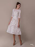Топ! Кружевное Вечернее платье с короткими рукавами, модель KAVI 74