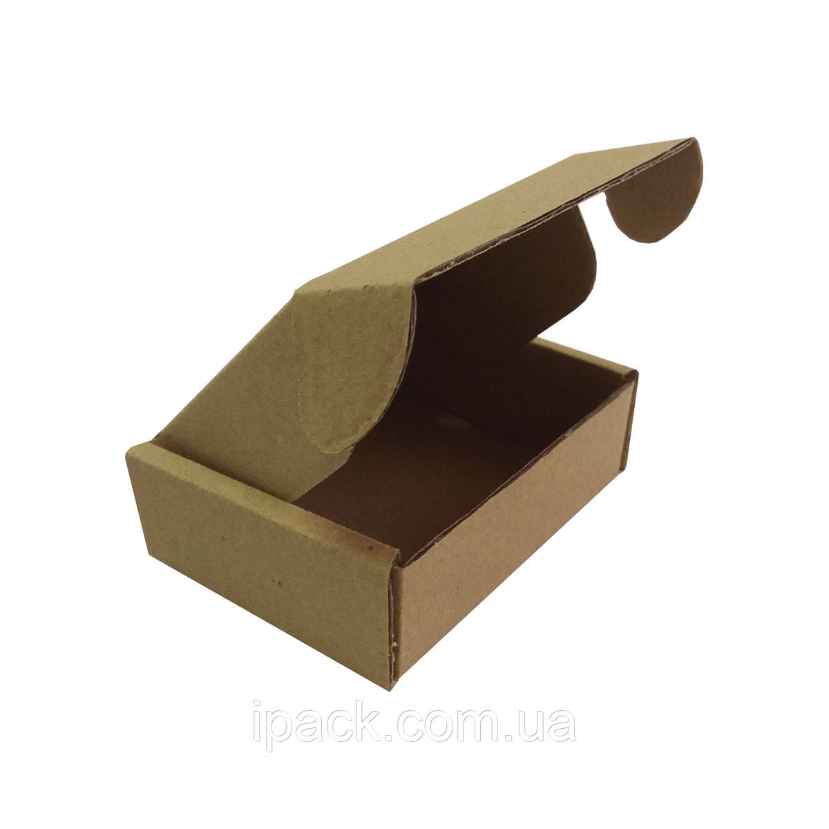 Коробка картонная самосборная 65*35*25 мм бурая крафт микрогофрокартон