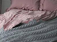 Покрывало - плед вязаное  170x240 BETIRES bremen grey