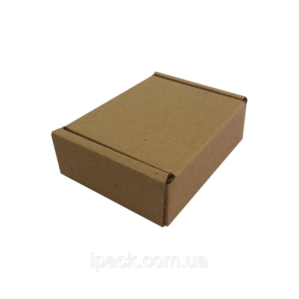 Коробка картонная самосборная, 85*70*30, мм, бурая, крафт, микрогофрокартон
