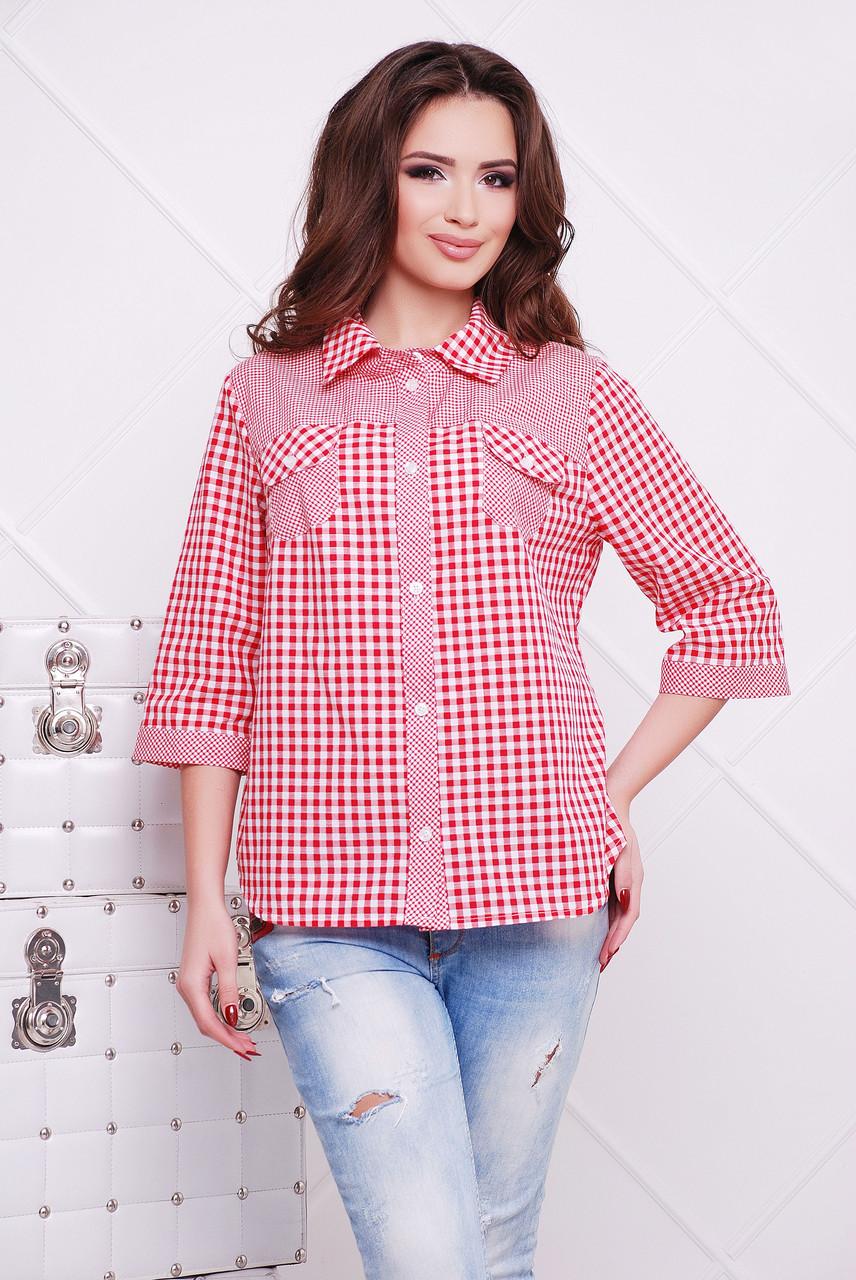 Рубашка Miledi Аленушка коралловый 56