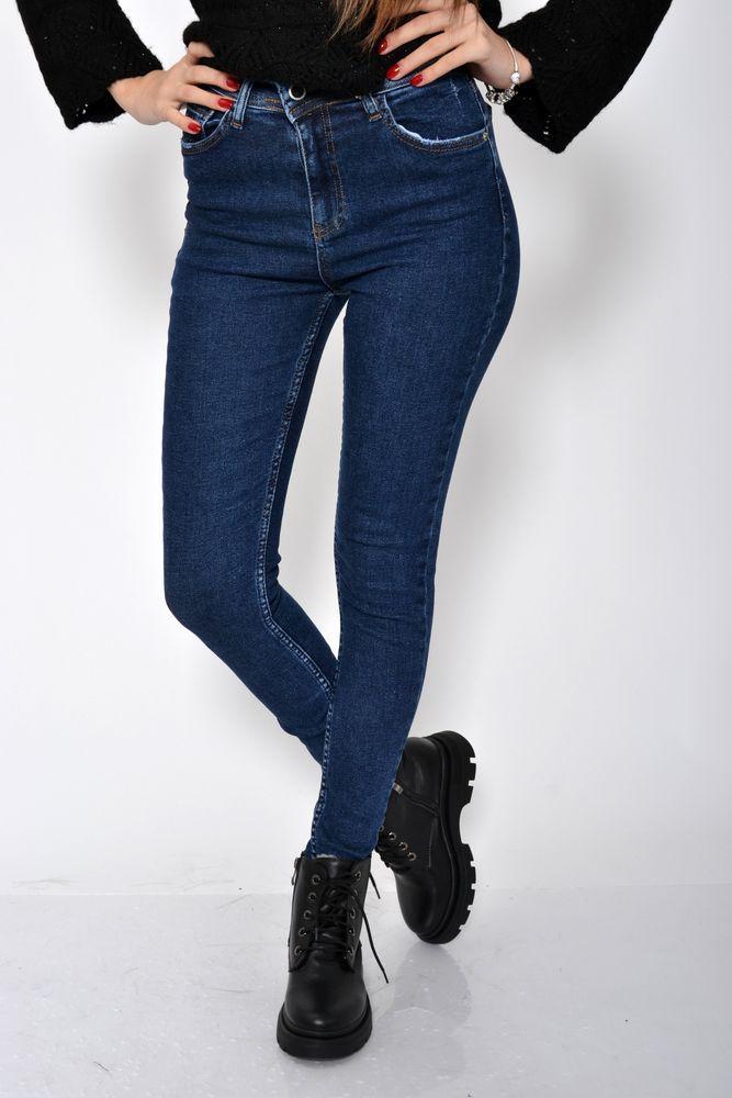 Женские джинсы классические синие 8673