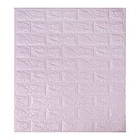 3д панель стеновой декоративный Светло-фиолетовый Кирпич (самоклеющиеся 3d панели для стен) 700x770x5 мм