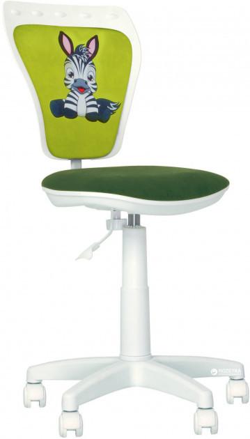 Детское компьютерное кресло белое MINISTYLE GTS WHITE MFD ZEBRA (Зебра) от Nowy Styl
