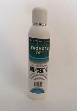 АНТИСЕПТИК  для шкіри - ЗАСІБ ДЕЗІНФЕКЦІЙНИЙ (ЕКОНОРМ DEZ) 250 ml, фото 2
