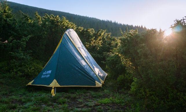 Намет Tramp Bicycle light 1 м, v2 TRT-033. Одноместная палатка для велотуризма. Намет Lightbicycle