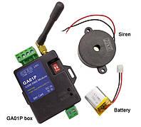 GA01P GSM контроллер для сигнализации по SMS  с сиреной и аккумулятором