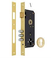 Замок врезной mul-t-lock 1-WAY DIN 204S PB UNIV BS45мм 85мм SP