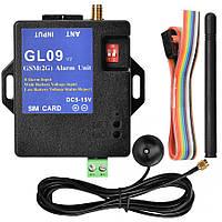 GL09 8 канальный (8 входов) GSM контроллер для сигнализации по SMS с контролем питания