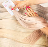 Зріз слов'янських волосся 60см. Колір #Блонд, фото 2