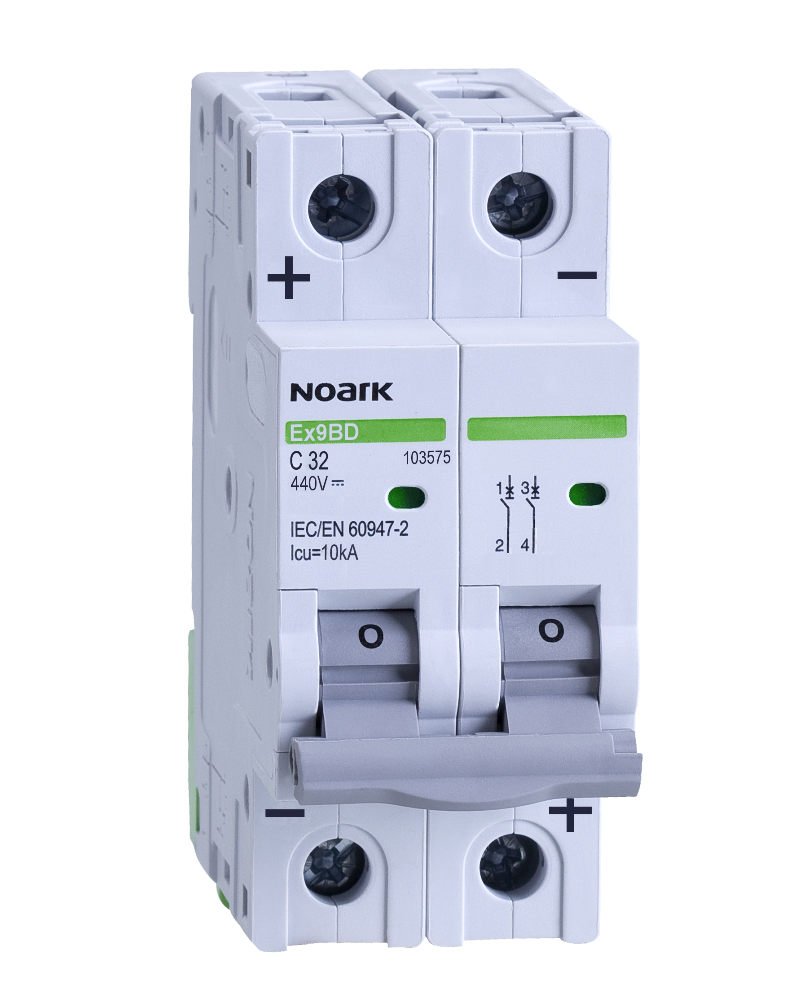 Автоматический выключатель для DC Noark C 10А 2P Ex9BD 103571